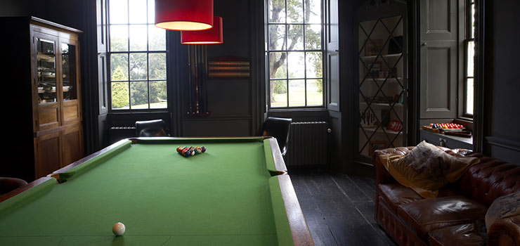 Babington billiards room